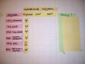 Personal Kanban Board für wiederkehrende Aufgaben